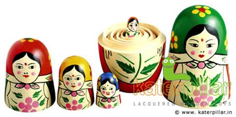 Wooden 5 in 1 Doll
