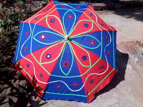 Umbrella (non water-proof) red-blue combo