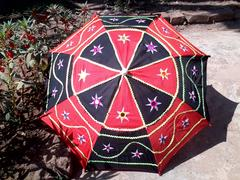 Umbrella (non water-proof) red-deep blue combo