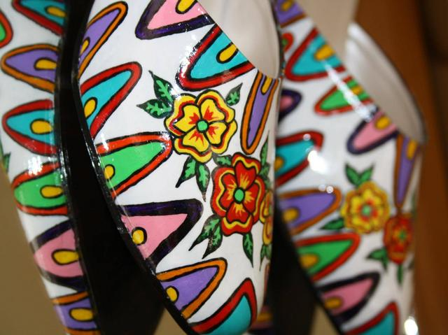 Candy-Sandies - Hand Painted Shoes by Khyatiworks