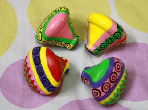 Char-Colors - Set of 4 Hand Painted Knobs/Pulls