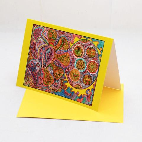 The Elements (Yellow) Greeting Cards