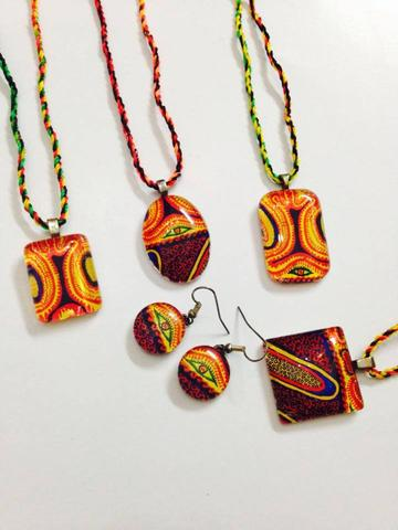 The Naina Series - Glass Pendants and Earrings