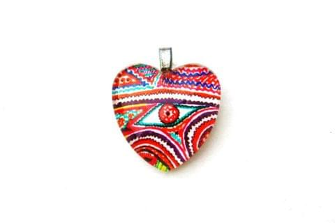 EYE-CANDY - Heart shaped GlassTile Pendant