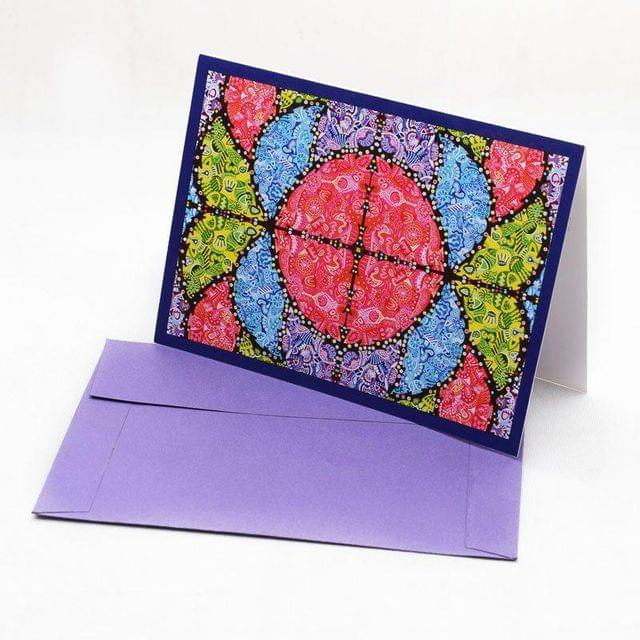 Vibgyorise (Purple) Greeting Card
