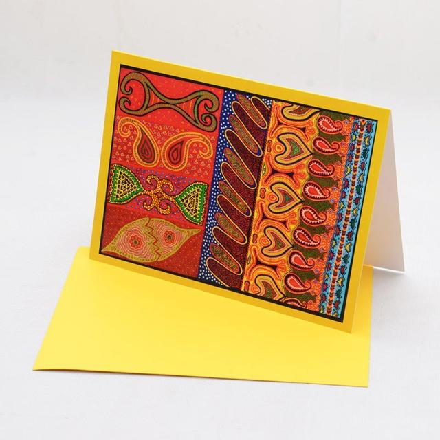 Ethereal (Yellow) Greeting Card