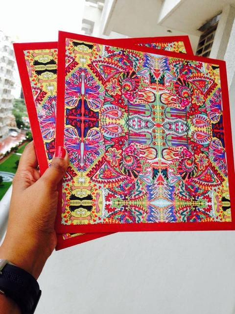 Spring-Fiesta Square Table Mats
