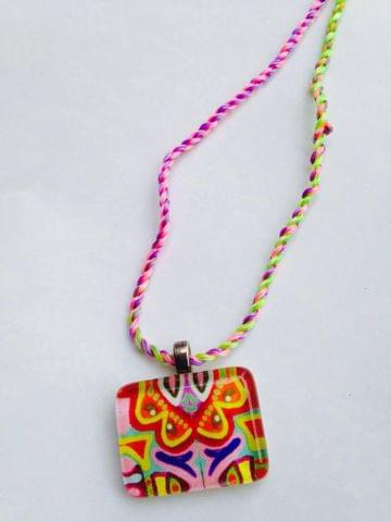 Coloree - Small Rectangle Glass Pendant