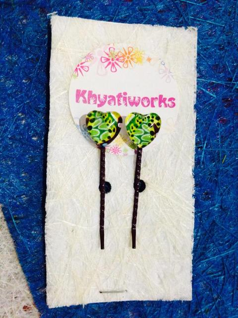 The Lime Hearts Bobby Pins