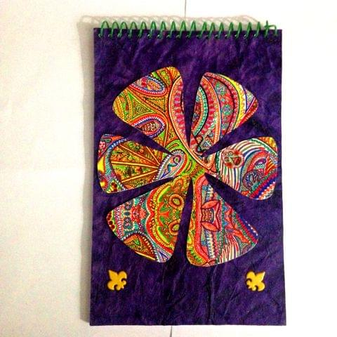 Spiral Notebook - The Elements Purple with Yellow Brads