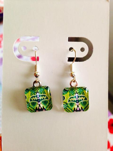 Citrus Blast Glass Earrings