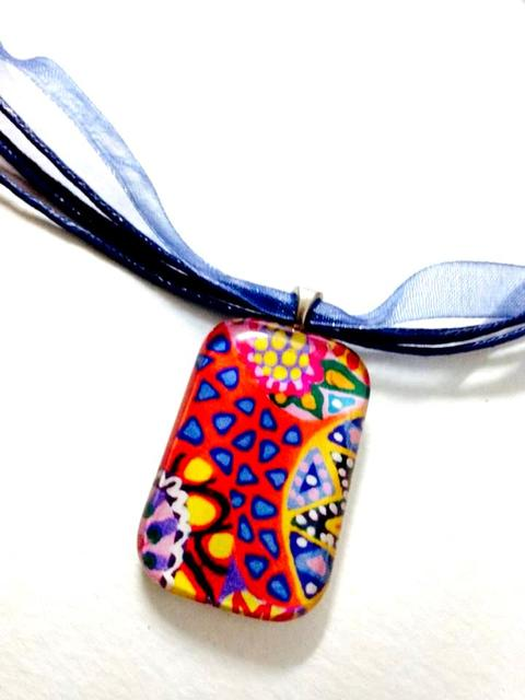 Triangle Bliss Rounded Cuboid Glass Pendant