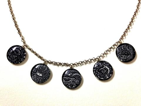 Chimera - Monochrome Circlets Necklace