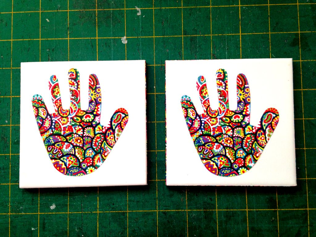 Haath-ee - Set of 2 Ceramic Coasters