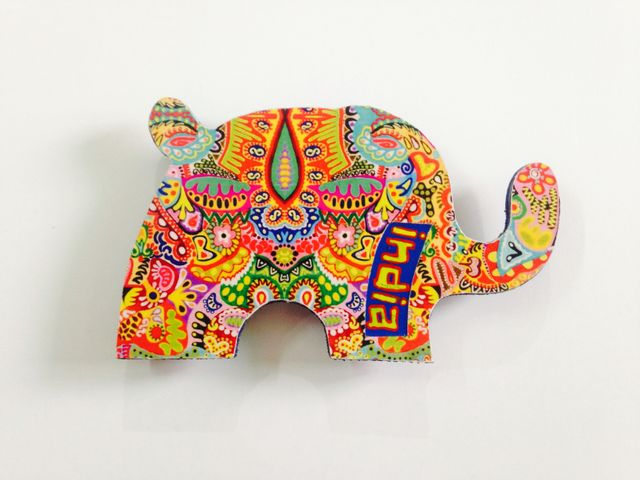 Colorama Elephant India Wooden Magnet