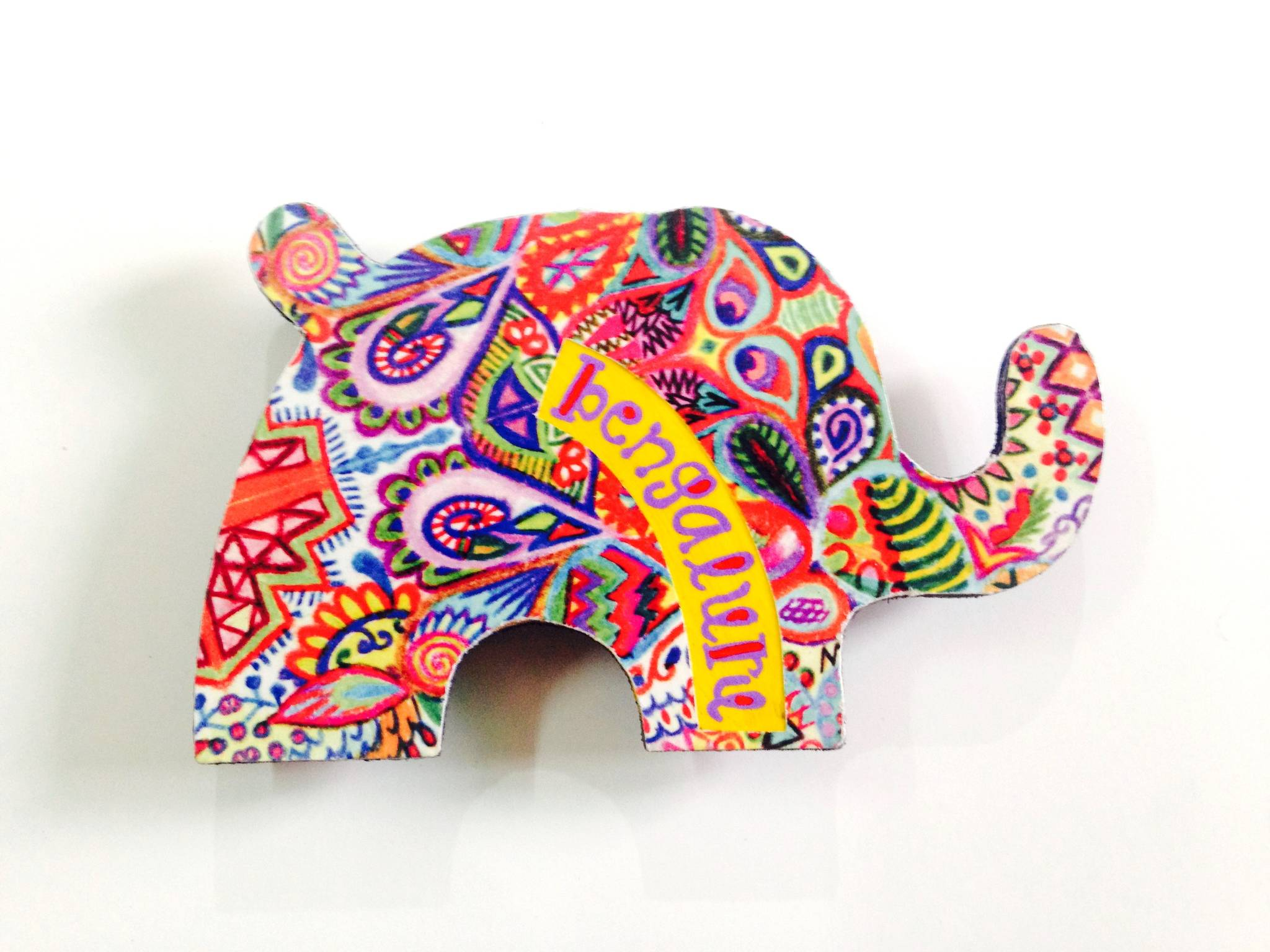 Summer Trail Elephant Bengaluru Wooden Magnet