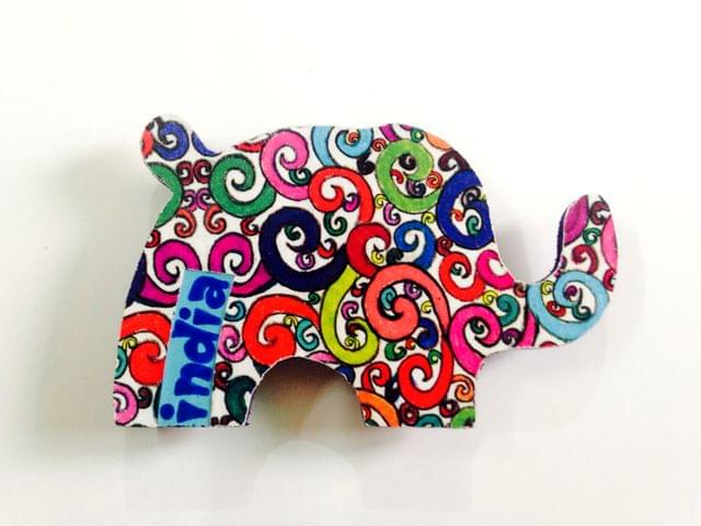Florosphere Elephant India Wooden Magnet