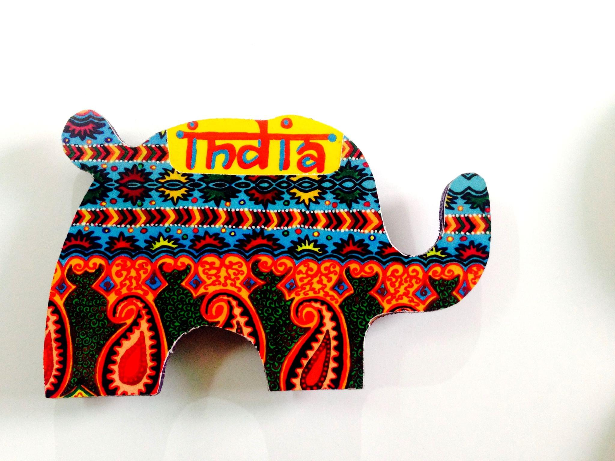 Ethereal Elephant India Wooden Magnet
