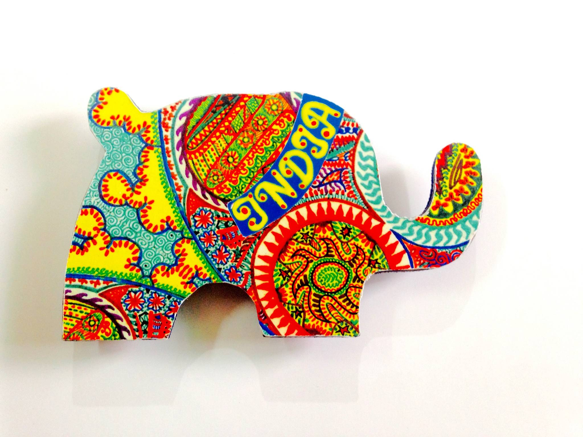 The Elements Elephant India Wooden Magnet