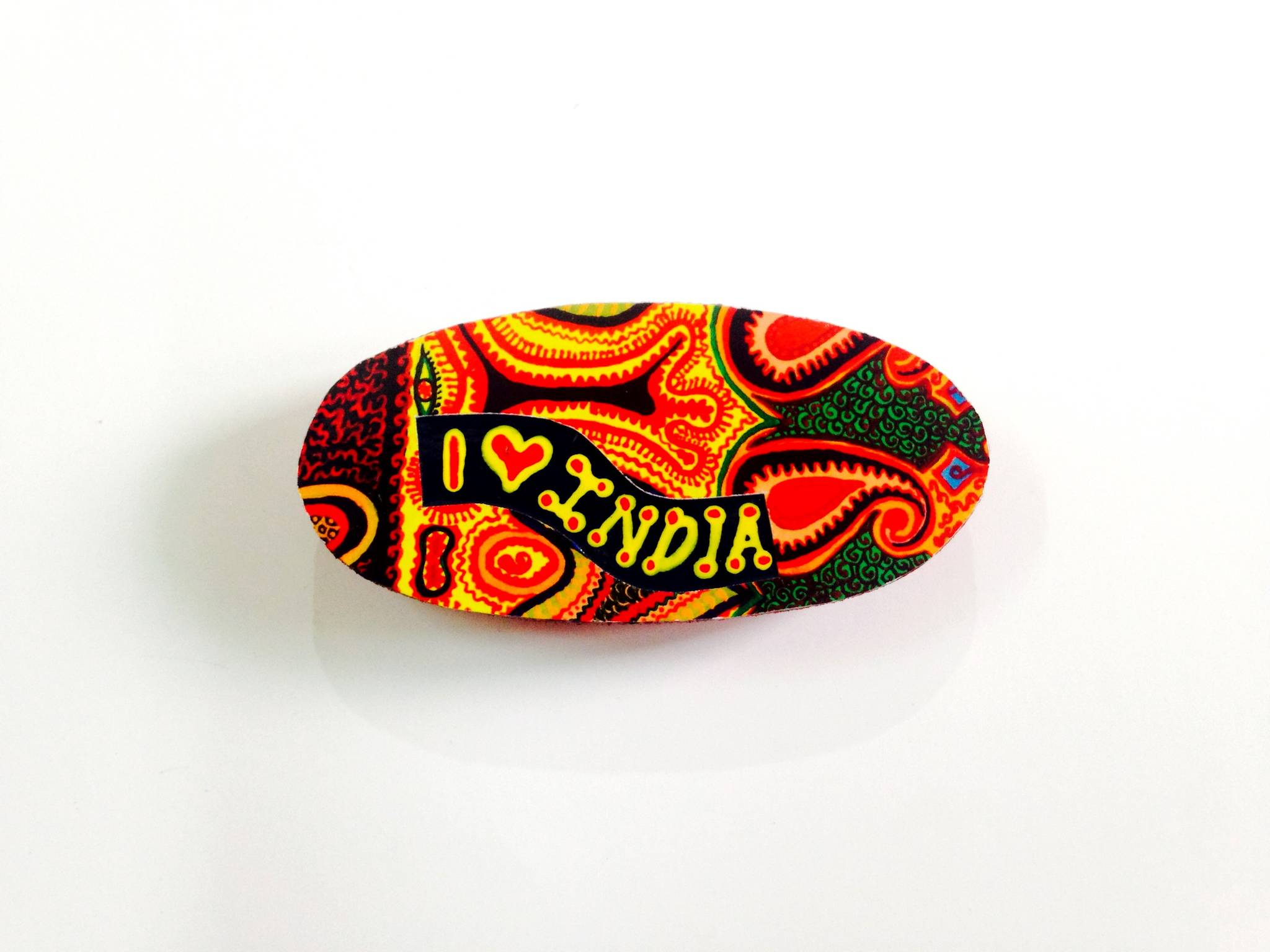 Ethereal Oval India Wooden Magnet