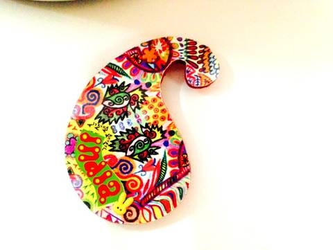 Summer Trail Paisley India Wooden Magnet