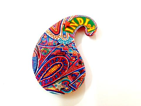 Art Paisley India Wooden Magnet