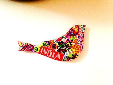 Summer Trail Birdie India Wooden Magnet