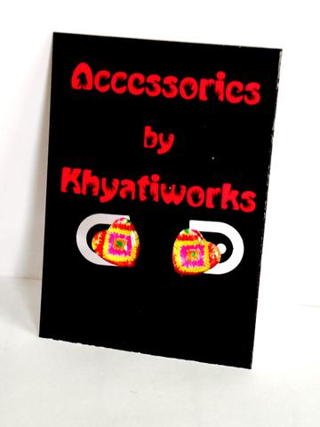 The Phulkari Series - Heart Studs