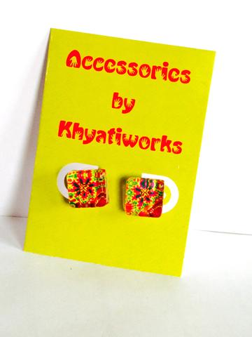 The Phulkari Series - Square Studs