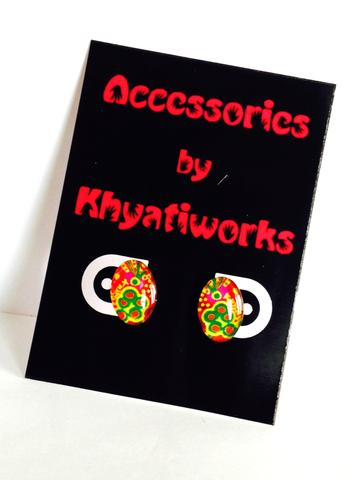 The Phulkari Series - Oval Studs