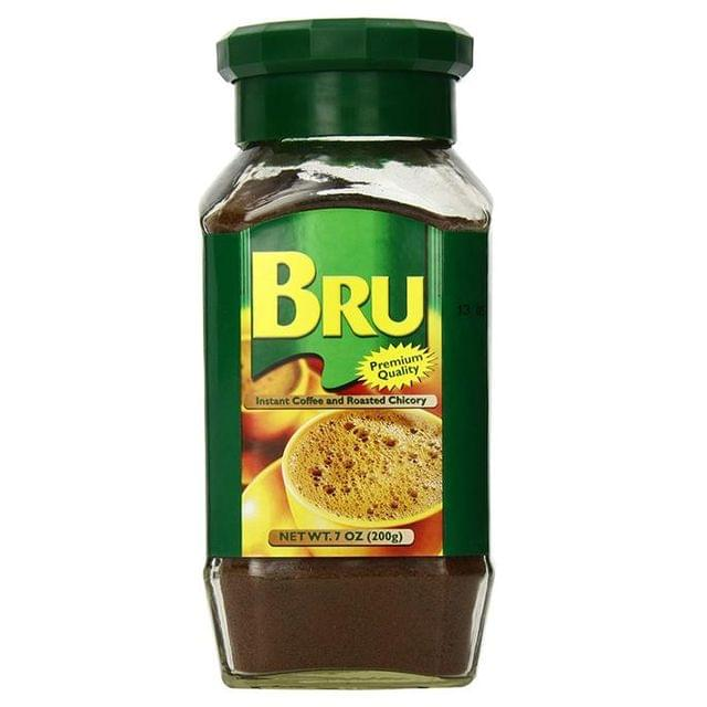 Brooke Bond Bru Instant Coffee and Roasted Chicory 200g