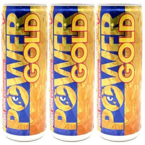 3x Pokka Power Gold Energy Drink 240ml