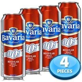 4x Bavaria Holland Non-alcoholic Regular Malt (Tin) 500ml