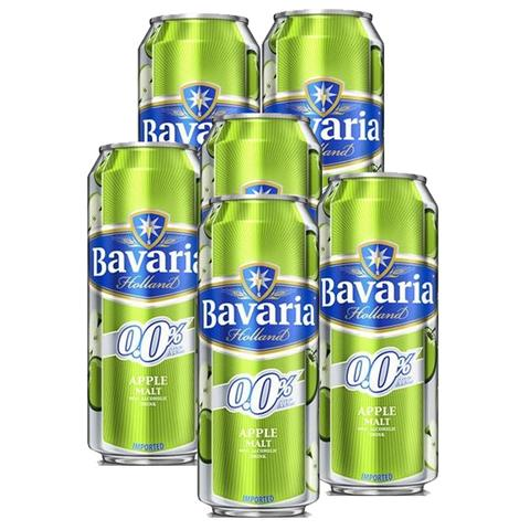 6x Bavaria Apple Non-alcoholic Beer Tin 500ml