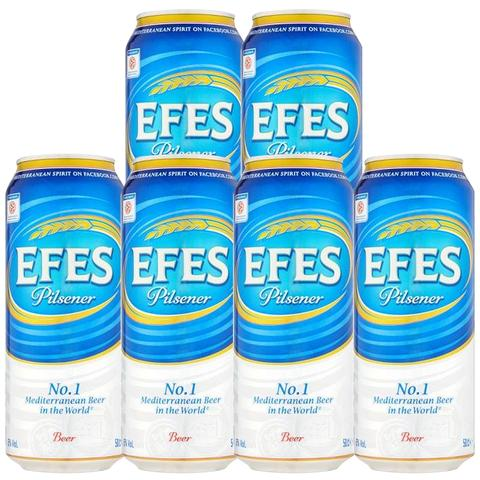 6x Efes Non-alcoholic Beer Tin 500ml