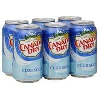 6x Canada Dry Club Soda 300ml