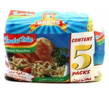 Indomie Instant Noodles Chicken Flavour 70g x 5 packets per pack