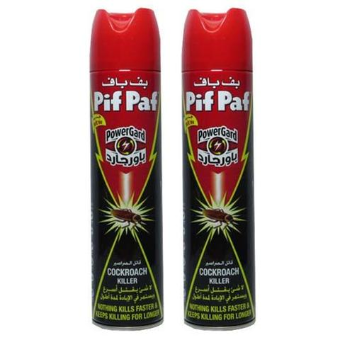 OFFER - 2x Pif Paf PowerGard Cockroach Killer 400ml