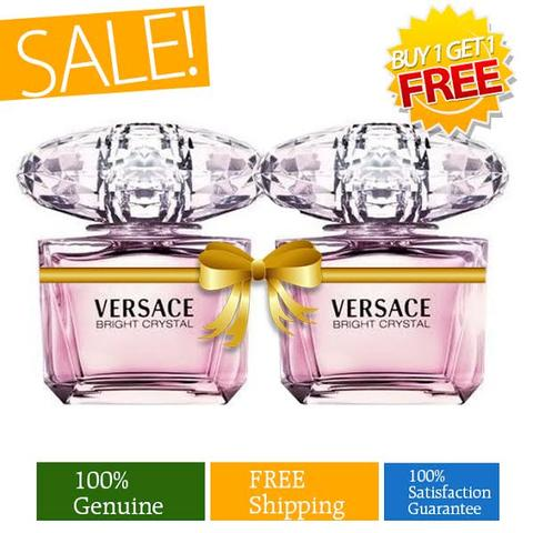 Buy 1 Versace Bright Crystal Eau de Toilette 90ml and Get 1 Free