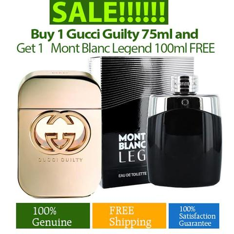 Buy 1 Gucci Guilty 75ml and Get 1 Mont Blanc Legend 100ml for Free