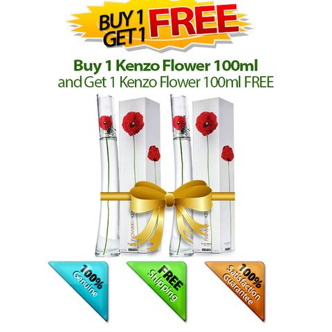 Buy 1 Kenzo Flower 100ml and Get 1 FREE