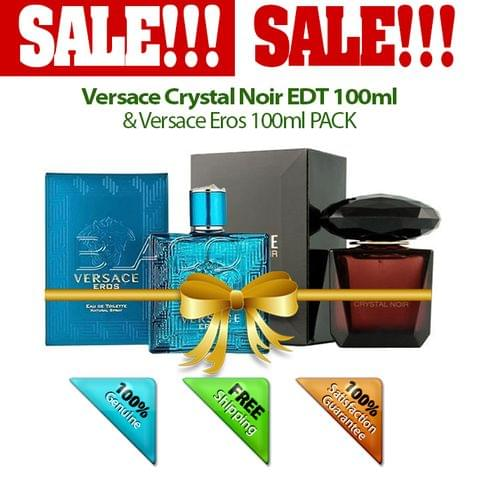 Buy 1 Versace Crystal Noir EDT 100ml & Get 1 Versace Eros 100ml FREE