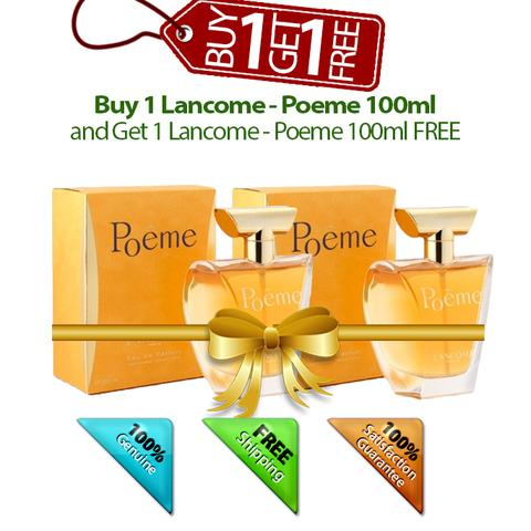 Buy 1 Lancome Poeme Eau de Parfum for Women 100ml and Get 1 FREE