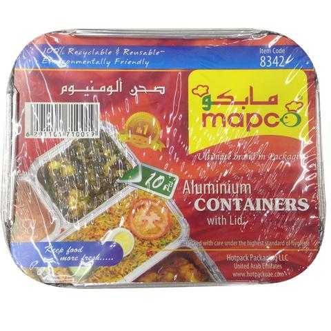 MAPCO Aluminum Containers with Lid 8452 10's
