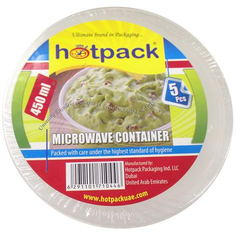 Hotpack Microwave Container 450ml 5 pcs