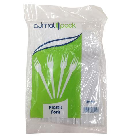 Ajmal Pack Disposable Plastic Fork 50 pcs