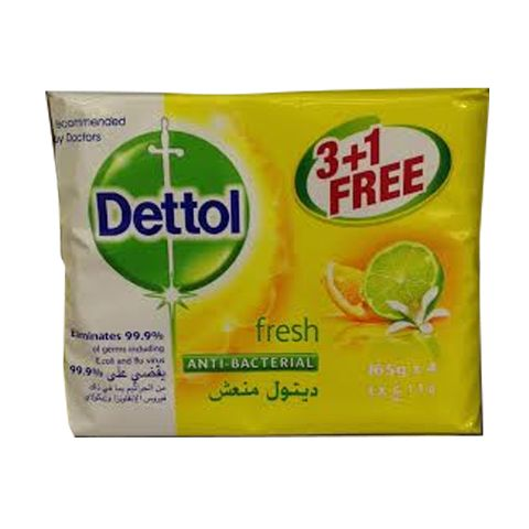 Dettol Soap Original Fresh 170gm 3 + 1 FREE