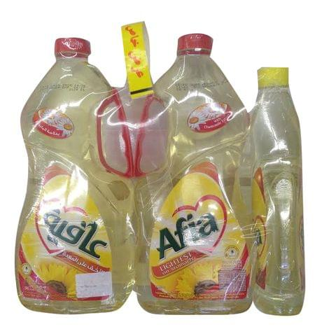 Afia Sunflower Oil 2 x 1.8 Litre + 750ml