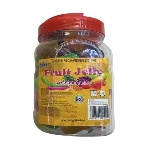 Fruit Jelly Assorted 36 pcs