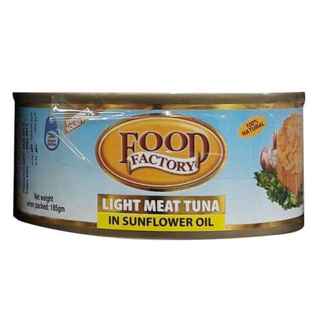 Food Factory Light Meat Tuna in Sunflower Oil 185g
